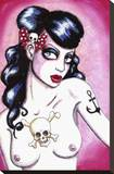 Rochabilly Impressão em tela esticada por  Shayne of the Dead