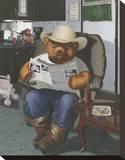 Redneck Teddy Impressão em tela esticada por Preston Craig