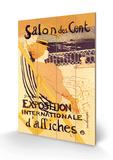 Salon des Cent: Exposition Internationale d'Affiches Cartel de madera por Henri de Toulouse-Lautrec