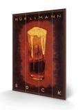 Hurcimann Bock Cartel de madera por Augusto Giacometti