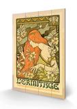 Hermitage Review of Illustration, Paris Träskylt av Paul Berthon