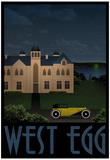 West Egg Retro Travel Poster Plakater