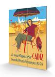 Cadiz, La Mejor Playa del Sur Holzschild