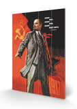 Lenin levde, Lenin lever, Lenin vil leve Treskilt av Victor Ivanov
