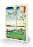 Kirsebærblomster Treskilt av Ando Hiroshige