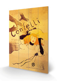Confeti Cartel de madera por Henri de Toulouse-Lautrec