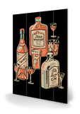 Whiskey, Wine & Gin Cartel de madera
