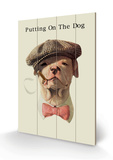 Dog in Hat and Bow Tie Smoking a Cigar Treskilt