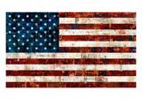 Amerikanska flaggan Exklusivt gicléetryck av Stella Bradley