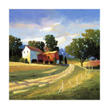 Barns on Greenbrier V Premium Giclee Print by Max Hayslette