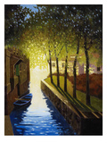 Village Canal, Annecy Premium Giclee Print by Max Hayslette