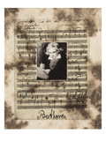 Principles of Music-Beethoven Premium-Fotodruck von Susan Hartenhoff