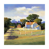 Barns on Greenbrier VI Premium Giclee Print by Max Hayslette