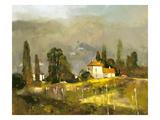 Tuscan Valley Premium Giclée-tryk af Ted Goerschner