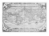 Vintage Map 3 Reproduction giclée Premium