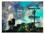 City Scrim B Premium Giclee Print by  GI ArtLab