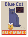 Blue Cat Premium Giclee Print by Ken Bailey