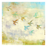Oiseaux 1 Premium Giclee Print by Maeve Harris