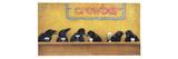 Cuervos en el bar Lámina giclée prémium por Will Bullas