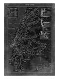 New York Map Premium Giclee Print by  GI ArtLab