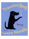 Traveling Dog, Space Needle Reproduction giclée Premium par Ken Bailey