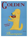 Golden Shampoo Premium Giclee Print by Ken Bailey