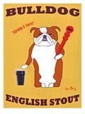 English Bulldog 2 Impressão giclée premium por Ken Bailey
