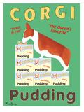 Corgi Pudding Premium Giclee Print by Ken Bailey