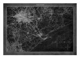 Houston Map A Reproduction giclée Premium par  GI ArtLab