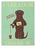Lab Chocolate Ale Reproduction giclée Premium par Ken Bailey