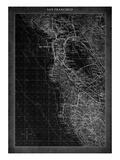San Francisco Map A Premium Giclee Print by  GI ArtLab