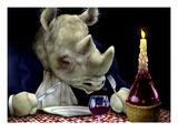 Dine-oceros Giclée-Premiumdruck von Will Bullas