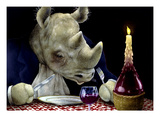 Dine-oceros Premium Giclee Print by Will Bullas