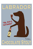 Labrador Chocolate Stout Reproduction pour collectionneur par Ken Bailey