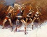 Dance up Kunstdruck von Kitty Meijering