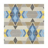 Blue and Yellow Geometry II Premium Giclee Print by Megan Meagher