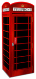 3 Dimensional Red British Phone Booth Lifesize Standup Cardboard Cutouts