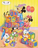 Disney Babies: Alphabet Blocks Walt Disney Poster Print 写真