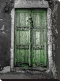 Green Door Stretched Canvas Print by Dale MacMillan