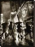 Rain Shopping Stretched Canvas Print by Dale MacMillan