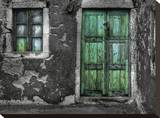 Green Door 2 Stretched Canvas Print by Dale MacMillan