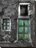 Green Door 1 Stretched Canvas Print by Dale MacMillan