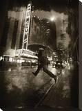 Radio City Umbrella Stretched Canvas Print by Dale MacMillan