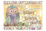 Pastel Owl Family 1 Braver Stronger Smarter Stampe di Erin Butson