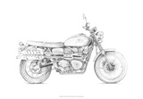 Motorcycle Sketch III Giclee Print by Megan Meagher