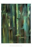 Turquoise Bamboo II Plakater av Suzanne Wilkins