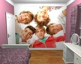 Papier peint One Direction en cercle Papier peint