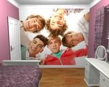 One Direction en círculo - Mural de papel pintado Mural de papel pintado