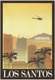 Los Santos Retro Travel Poster Poster