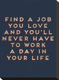 Job You Love Stretched Canvas Print